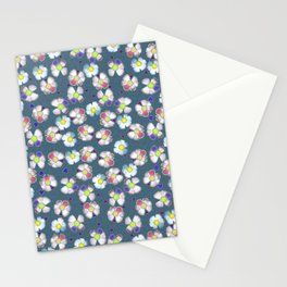 delft blue wild rose Stationery Cards