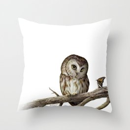 """""""Adorable"""" by Claude Thivierge Throw Pillow"""