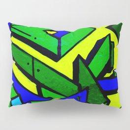 Green and blue graffiti - street art Pillow Sham