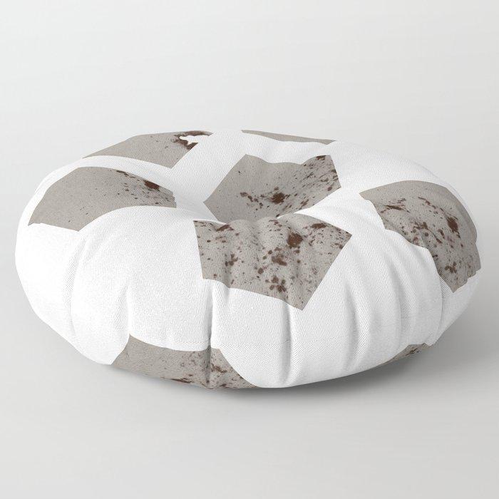 Pentagons of May 6 Floor Pillow