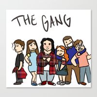 my mad fat diary Canvas Prints featuring My Mad Fat Diary: The gang by Lisa France