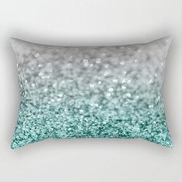 Silver Teal Ocean Glitter Glam #1 #shiny #decor #art #society6 Rectangular Pillow