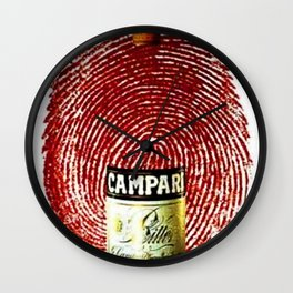 Vintage Cordial Campari Aperitif Thumb Print Advertising Poster Wall Clock