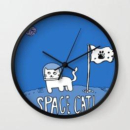 Space Cat! Wall Clock