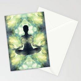 Yoga Asana  in Translucent Agate Stationery Cards