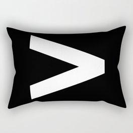 Greater-Than Sign (White & Black) Rectangular Pillow
