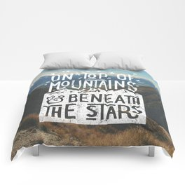 on top of mountain and beneath the stars Comforters