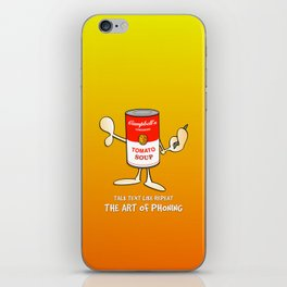 Tomato soup phone (orange) iPhone Skin