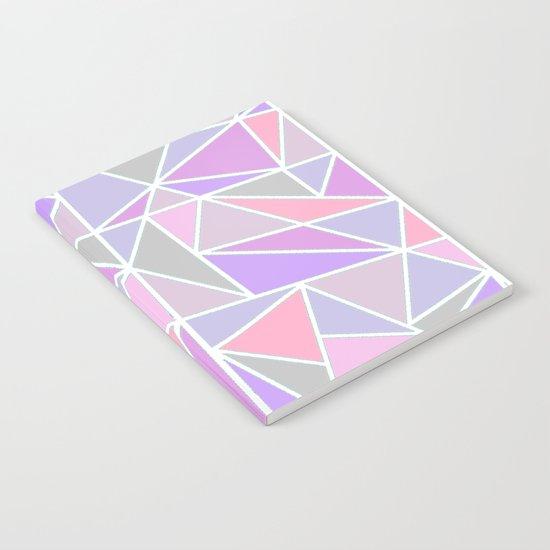 Pastel Shards Geometric Pattern Notebook