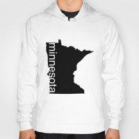 minnesota Hoodies featuring Minnesota by Isabel Moreno-Garcia