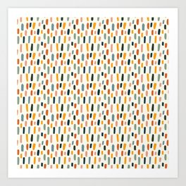 Rainbow Confetti Pattern Art Print