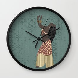 Belly dancer 1 Wall Clock