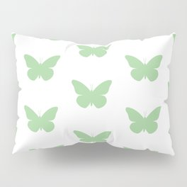 Mint Butterfly Pattern and Print Pillow Sham