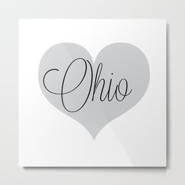Ohio Script Love Metal Print