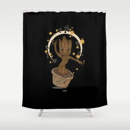Groovy baby Groot Shower Curtain
