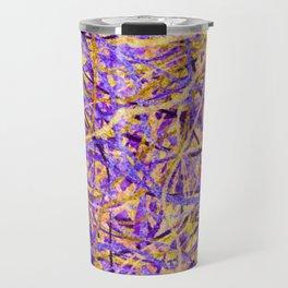 Purple and Gold Celebration Travel Mug