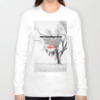 flamingo Long Sleeve T-shirts featuring Flamingo by Mehdi Elkorchi