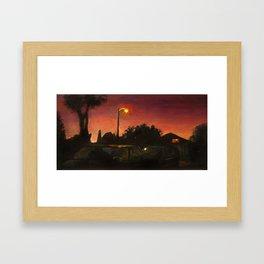 Long Beach Night Framed Art Print