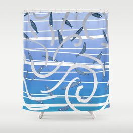 Dance in the blue Shower Curtain