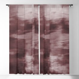 Fusion Abstract Watercolor Blend Pantone Red Pear / Fluid Art Ink Blackout Curtain