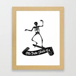 ODS Grinding Skeleton Framed Art Print