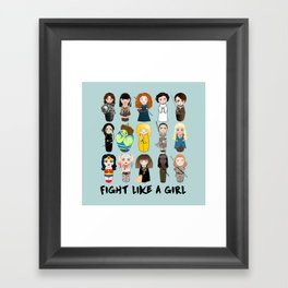Kokeshis Fight like a girl Framed Art Print