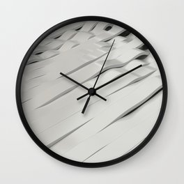 Abstract 3D rendering of white sine waves Wall Clock