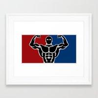 league Framed Art Prints featuring Major League by Gym Worthy
