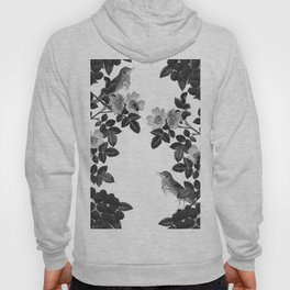 Birds and the Bees Black and White Hoody