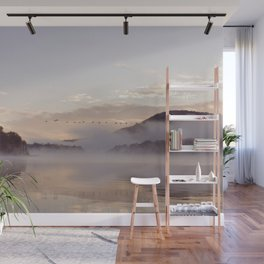 Into the Mists of Dawn: Sunrise on Lake George Wall Mural