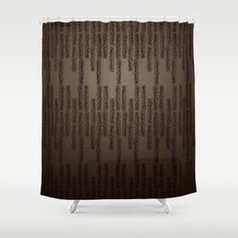 Eye of the Magpie tribal style pattern Shower Curtain