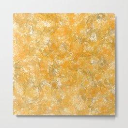 Golden yellow and oranges crystallised stone digital effect Metal Print