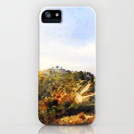 Hiking above LA iPhone Case