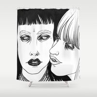 lovers Shower Curtains featuring Lovers by Cannibal Malabar