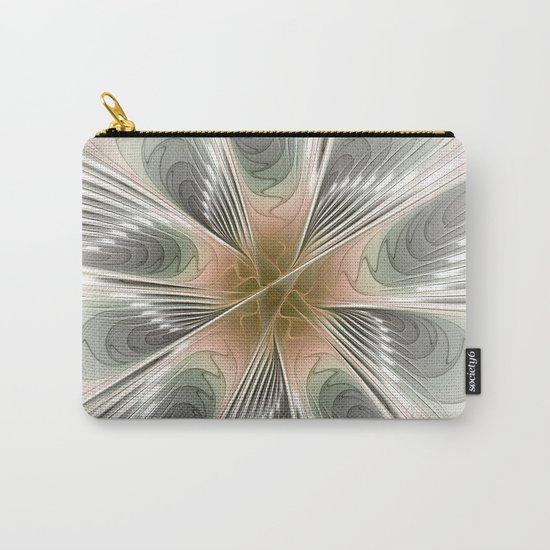 Floral Elegance, Modern Fractal Art Carry-All Pouch