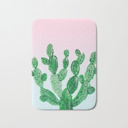 Cacti rose & green Bath Mat