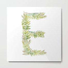 Initial E Metal Print