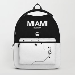 Miami White Subway Map Backpack
