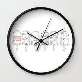 Little ice lollies Wall Clock