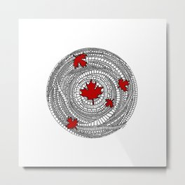 Canadian Maple Red Metal Print
