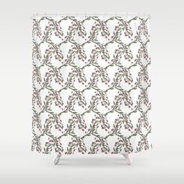 Crabapple Calico Shower Curtain