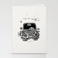 jeep Stationery Cards featuring Jeep by inktheboot