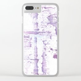 Smell of lavender Clear iPhone Case