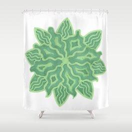 Emerald Flower Shower Curtain