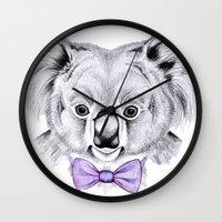 koala Wall Clocks featuring Koala by 13 Styx
