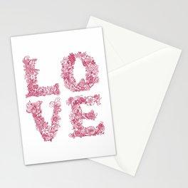 L O V E / pink Stationery Cards