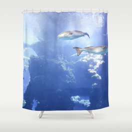 View From the Bottom Shower Curtain
