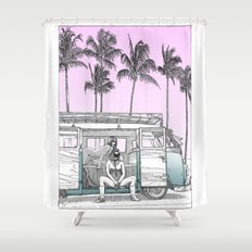 asc 691 -  Book cover for La Musardine Shower Curtain