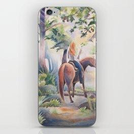 Quiet Woodland Horse Ride iPhone Skin