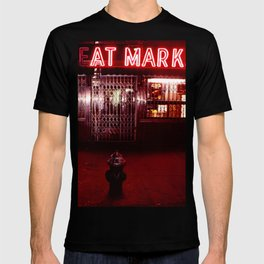 Night Lights Victors Meat Market, NYC T-shirt